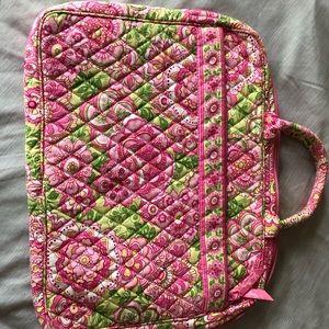 Vera Bradley Petal Pink laptop case floral bag